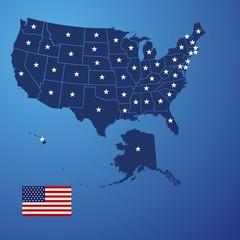 US map stars vector