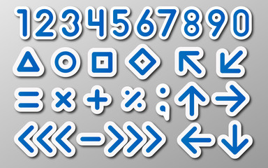 numbers and mathematical symbols background