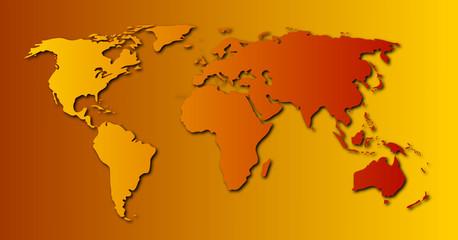 Keuken foto achterwand Wereldkaart Carte du monde