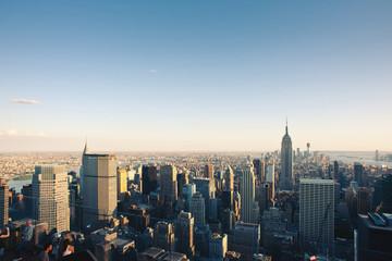 New York City Manhattan skyline view.