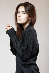 fashion glamour girl, studio shot