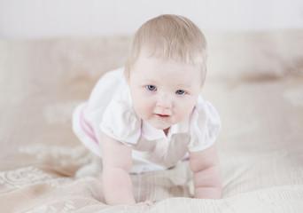 Cute baby having fun