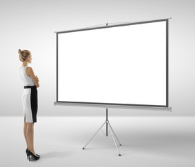 woman and flipchart