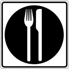 Papier Peint - Schild weiß - Restaurant 2