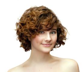smiling redhead girl
