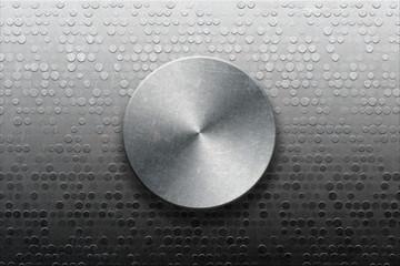 Metallic panel with knob