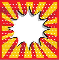 Boom pop art cloud on a vintage grunge  background sticker
