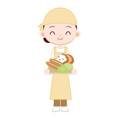 近所のパン屋さん 女性店員