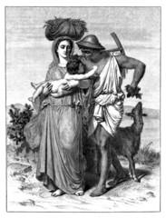 Antiquity : Peasant Family