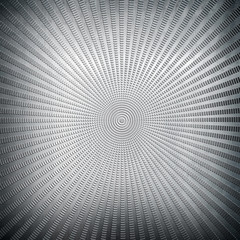 metal background with rays pattern