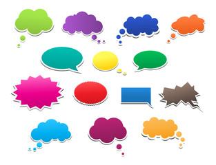 Set of speech bubbles