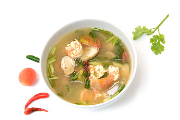 tom Yum Goong soup with shrimp ,favorite Thai food