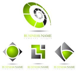 Business logo green design