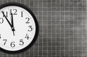 Clock and blank school board