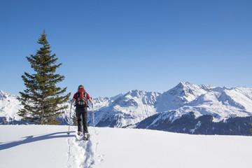 Wintersport in den Alpen