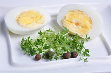 eggs and vegetables on a white plate 3