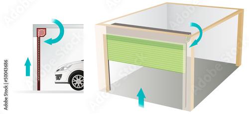 porte de garage enroulable fichier vectoriel libre de droits sur la banque d 39 images fotolia. Black Bedroom Furniture Sets. Home Design Ideas