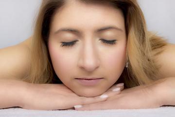 entspannende Frau