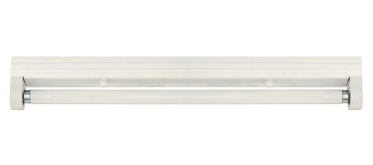 Fototapeta Fluorescent lamp with batten fitting isolated on white backgroun obraz
