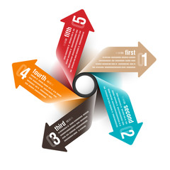 Five directions arrows design template