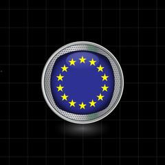 Metallbutton Europa Flagge