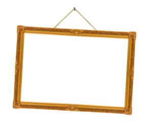 Retro frame on string