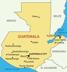 Republic of Guatemala - vector map