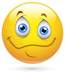 Smiley Vector Illustration - Innocent Eyes Face