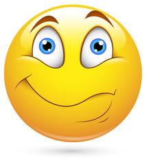 Smiley Vector Illustration - Listening