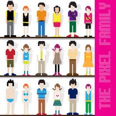 Wall Murals Pixel Pixel Family Character