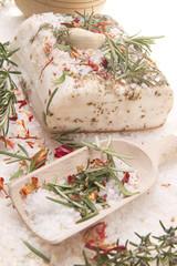 Photo sur Aluminium Entree Mediterranean diet, bacon with herbs.
