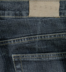 jeans texture, label