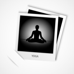 photo of yoga vector