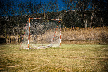 Neglected football playground