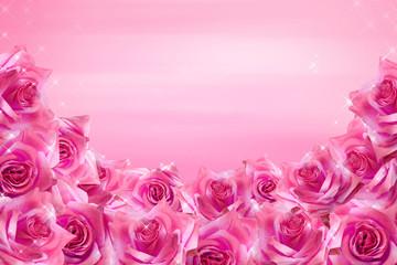 Fototapeta Pink roses background obraz