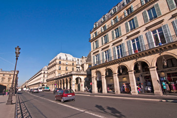 Rue de Rivoli à Paris - France