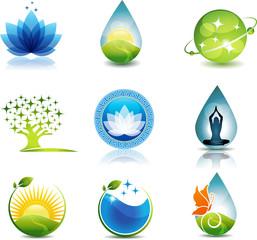 Nature and health care symbols