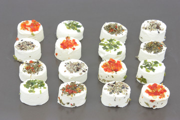 White cheese with spices