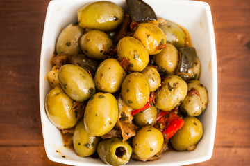 Varitey of olives