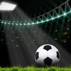 soccer field with bright lights