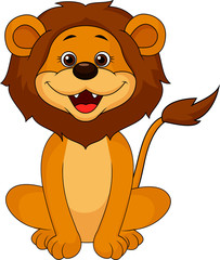 Funny lion sitting