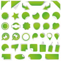 Rabatt Sticker Blanko - Reduziert - Neu - Sale / Grün