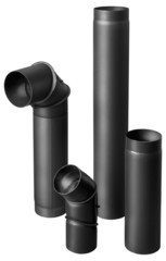 black fire-resistant pipes