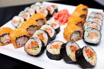 Poster Sushi bar Roll set