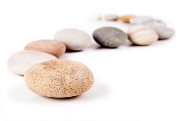 Stone path isolated on white background