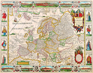 Wall Mural - Europe old map 1658