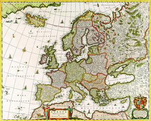 Wall Mural - Europe old map 1640