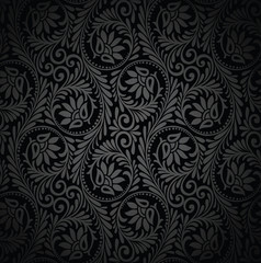 Seamless luxurious vector wallpaper