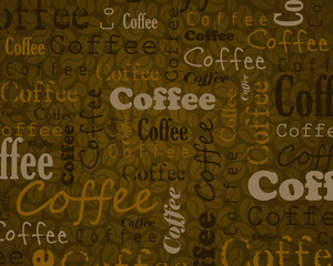 coffee text background