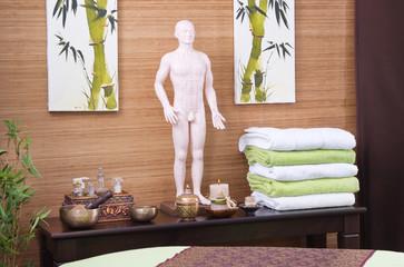 Asiatische Dekoration im Spa